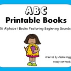 Printable Books for Emergent Readers: Alphabet Books