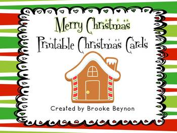Printable Christmas Cards {Freebie}