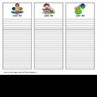 Printable Class List Templates (Reading, Math, Science, Ar