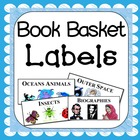 Printable Library Book Basket Labels