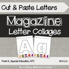 Printable Magazine Letter Cut and Paste ABC Book, Alphabet book
