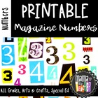Printable Magazine Number Cutouts, 0-9 and special charact