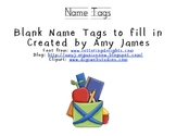 Printable Name Tags with Alphabet and Numbers