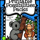 Printable Possibilities Packs ~ Animal Themed Foldables, O