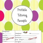 Printable Tutoring Receipts