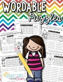 Printable Wordable Puzzles