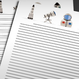 Printable Writing Paper: Space Theme (10 Styles)