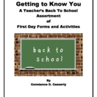 Printables: Back to School Assortment of First Day Forms a