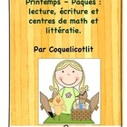 Printemps - Pâques, math and literacy activities and centers