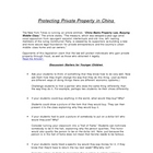 Private Property in China