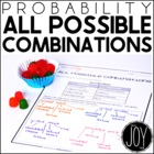 Probability - All Possible Combinations Leveled Worksheets
