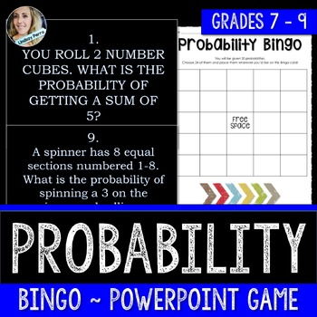 Probability Bingo PowerPoint Game