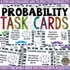 Probability Task Cards with Recording sheet **STACHE THEME