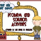 Problem Solution Activities and Games FUN STUFF!!!!