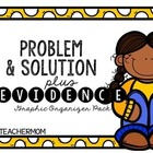Problem & Solution + Evidence Graphic Organizer {Freebie}
