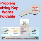Problem Solving Key Words Foldable