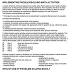 Problem Solving Math 1: Teachers' Notes and Answers