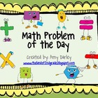 Problem of the Day {Math Problems for Common Core}