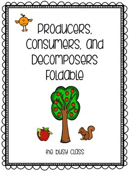 Producers, Consumers, and Decomposers Foldable