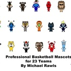 Professional Basketball Mascots - PNG Files - For Personal