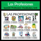 Professions Vocabulary Activities & Games Unit in Spanish-