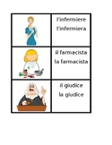 Professions in Italian Concentration game