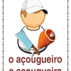 Profissoes (Professions in Portuguese) mini-posters