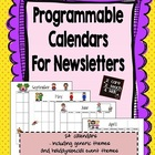 Programmable Themed Calendars ~ for Newsletters