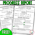 Progress Report for Parents