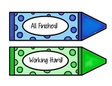 Progress Signal Crayons // Classroom Management Cards