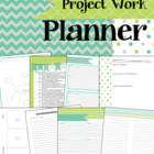 Project work teacher planner and organizer