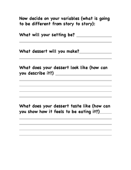 Prompt Writing Organizer - Dessert