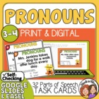 Pronoun Antecedent Agreement Task Cards: 32 Cards for CCSS