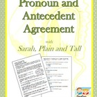 Pronoun Antecedent Agreement with Sarah, Plain and Tall