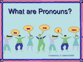 Pronouns Practice Power Point Presentation