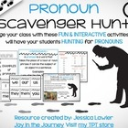 Pronouns Scavenger Hunt Activity Pack