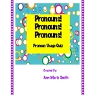 Pronouns Test and Answer Key: Personal Pronouns, Cases, & Usage