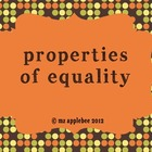 Properties of Equality Posters