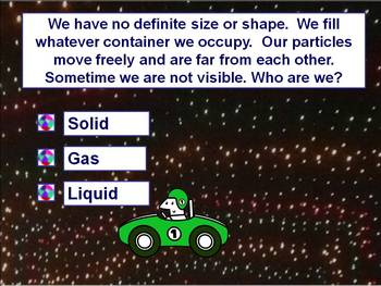 Properties of Matter Racing Game - Powerpoint