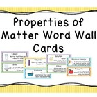 Properties of Matter Vocabulary Cards