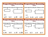Proportional Reasoning Task Cards Corresponding Sides Geom