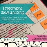 """Proportions """"Solve and Snip""""- Practice Problems- Common Core"""