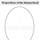 Proportions of the Head Portrait Worksheet