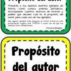 Propsito del autor