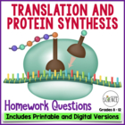 Protein Synthesis Homework Assignment Translation