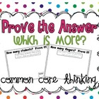 Prove Your Answer {Which is more?}