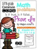 Prove it! {5th grade Operations & Algebraic Thinking}