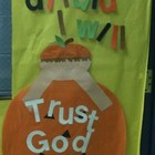 Psalm 116:11 Halloween Door Decor