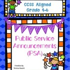 Public Service Announcement Writing Activity CCSS Aligned.