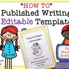 How to Books Published Writing **Editable** Template with